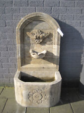 Wandbrunnen aus Naturstein, Steinbrunnen, Gartenbrunnen, Zierbrunnen, Brunnen
