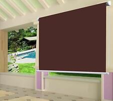 Waterproof Exterior Manual Roller Shade 6x6ft Wine Red