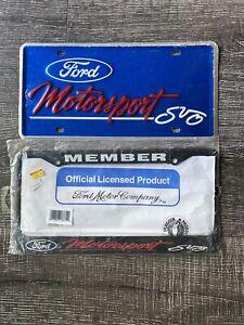 2 Vintage Ford Motorsport Member License Plate's SVO Cobra Lighning  NOS RARE!!!