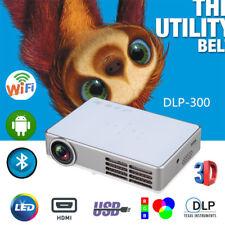 Full HD 3D DLP Mini Portable Home Theater Projector 1080P LED HDMI VGA USB Video