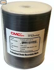 600-Pak CMC PRO White Inkjet Hub 16X DVD-R's in Tapewrap!  6 x 100-Pak