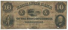 Georgia Griffin $10 Exchange Bank 1857 Train Rifle man G8c # 4062 in red