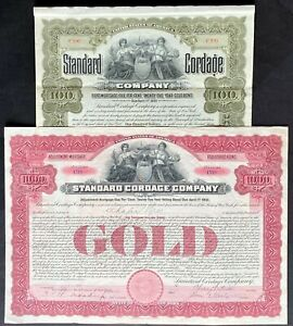 STANDARD CORDAGE CO Bonds (Lot of 2) 1906. Rope & Twine Manufacturing Trust ABNC