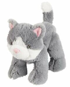 HTF NWT Carters Grey White Plush Kitty Cat Kitten Stuffed Animal Baby Toy 67068