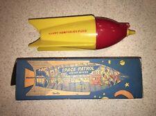"""Original 1950's """"Space Patrol"""" Drink Mixer Rocketship Ultra Rare Promo With Box!"""