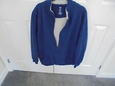Ladies Navy blue fur lined track suit top  size large (42/44) chest