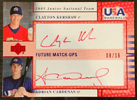2005 Upper Deck USA Clayton Kershaw RC Rookie Red Ink On Card AUTO #'d /16 RARE!