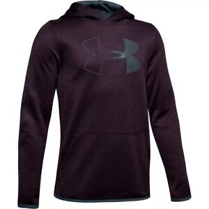 NWT Boys 8-16 Under Armour Fleece Logo Pull-Over Hoodie 5 Colors Size S M