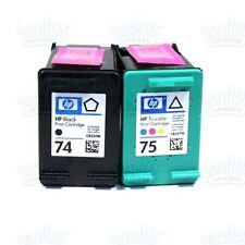 2 Genuine HP 74/75 Black-Color Ink C5580 C5500 C4480 D5360 C4210 C4380 D4200