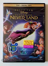 Disney Peter Pan 2 Sequel Return to Neverland Locked in Vault DVD & Digital Copy