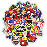 50Pcs Cartoon Marvel Super Hero Graffiti Sticker Skateboard Luggage Laptop Decal