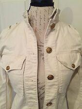 Denim & Supply Ralph Lauren Women's Military Jacket Blazer Sz S Ivory