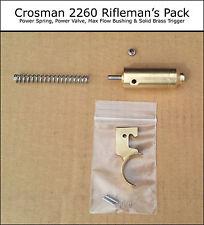 Crosman 2260 Rifleman's Pack - Power Valve Spring Max Flow Bushing Brass Trigger