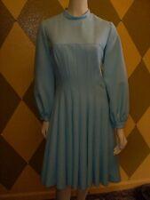 Classy Gorgeous Vintage Alfred Werber Sky Blue Dress,14