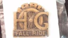 Harley HOG Road Glide Wideglide Touring WHEEL 1984 FALL RIDE Lapel Pin H.O.G. FX