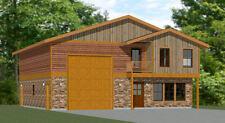 40x42 House -- 3 BR 2.5 Ba 1-RV Garage - PDF Floor Plan - 1,619 sqft - Model 2C