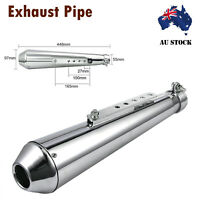 Motorcycle Universal Short Megaphone Exhaust silencers for Harley Cafe Racer AU