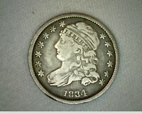 1834 US Dime Silver Capped Bust Large 4 Very Fine