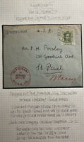 1922 Zaragoza Spain Deficient In Address Cover To St Paul MN USA