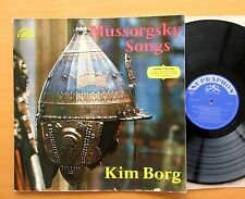 SUA 10390 Mussorgsky Songs & Dances Of Death Kim Borg 1963 NM/EX Supraphon Mono