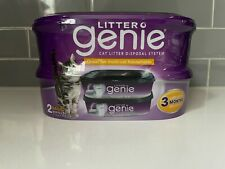New listing Litter Genie Refills - 2 Pack Lasts up to 3 Months With One Cat Odor Eliminator