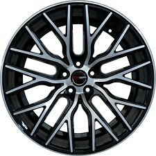 4 GWG Wheels 20 inch STAGGERED Black FLARE Rims fits NISSAN 350Z 2002-08