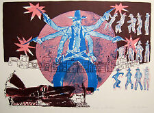 Warrington Colescott High Noon for Hoot Gibson Original Signed Lithograph