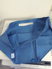 Longaberger Medium Oval Waste Basket Cornflower Blue Fabric Over Edge Liner