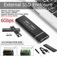 6 Gbit / s M.2 NVMe PCIe M-Schlüssel SSD zu Typ C USB3.1 Externes SSD-Gehäuse