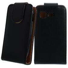 Für Samsung Galaxy Pocket S5310 Schwarz Handytasche Flip Case Hülle Etui Schutz
