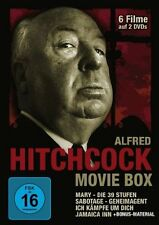 2 DVDs * ALFRED HITCHCOCK MOVIE BOX - 6 Filme  # NEU OVP ~