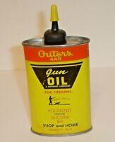 Vintage Outers 445 Gun Oil Tin Metal Handy Oiler Can w/ Cap Onalaska, Wisconsin