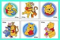 Winnie the Pooh Tattoos x 12 pieces - Birthday Party Favours - Piglet/Tigger