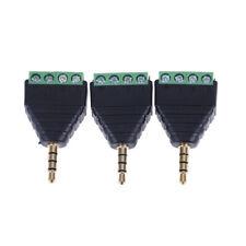 4Pole Stereo AV Screw Terminal Jack 3.5mm Male 4Pin Terminal Plug ConnectoY`US