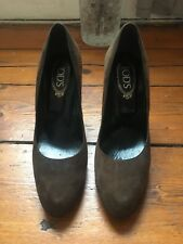 USED TODS Brown Suede Heels Size 40 - Great Condition - barely worn! £75 OBO
