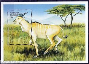 Congo 2000 MNH SS, Eland Antelope, Taurotragus oryx, Wild Animals