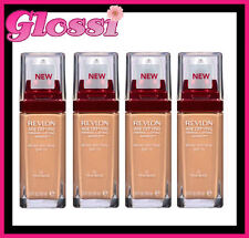 4 x REVLON AGE DEFYING FIRMING + LIFTING MAKEUP FOUNDATION ❤ 65 TRUE BEIGE ❤