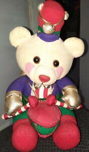 "1994 Avon Vintage Christmas Stuffed Drummer Boy Bear 11.5"""