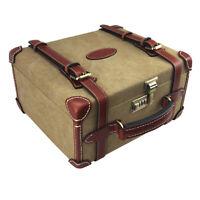 Tourbon Hunting Ammunition Box Cartridges Hard Case Ammo Storage Canvas Leather