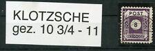 Ost-Sachsen Postmeistertrennung Klotzsche 44 Fa gestempelt weitere sh. Shop