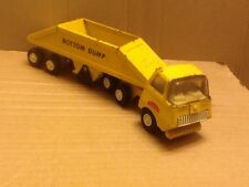 Vintage Tiny Tonka Bottom Dump Truck #655 yellow 1970's USA