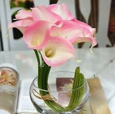 FD828 Pink Artificial Latex Calla Lily Flowers Bouquet Garden Home Wedding 1PC