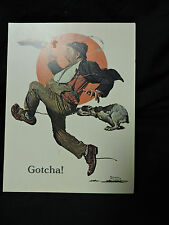 VINTAGE 1978 SATURDAY EVENING POST NORMAN ROCKWELL GREETING CARD (1928)