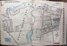 1942 Delaware Co Pa Upper Darby Yeadon Lansdowne Fitzgerald Murphy Hos Atlas Map