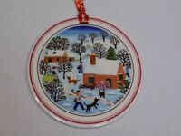 Villeroy & Boch Naif Christmas Tree Holiday Porcelain Ornament Laplau 4 Woodsman