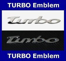TURBO Emblem Schriftzug mit selbstklebender Rückseite,  Chrom Emblem