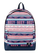 Roxy mochila bolso para mujer azul marino a rayas de bebé de azúcar. escuela Mochila. 16 L 8 W 28 xwbg