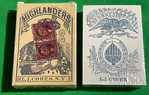 SEALED Old Square Corner * COHEN HIGHLANDERS 1864 POKER  Facsimile Playing Cards