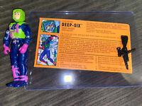 C9 DEEP SIX 1992 GIJoe vintage figure Eco-Warriors W Gun + Filecard As Pictured