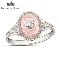 Gorgeous 925 Silver Jewelry Wedding Rings White Sapphire Flower Ring Size 6-10